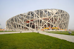 Peking-olympisches Stadion 2008 stockfotos