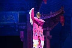 Peking-Oper Schauspieler-akrobatische showBaixi Traum-Nacht Lizenzfreies Stockbild