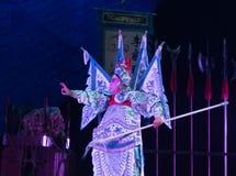 Peking-Oper Schauspieler-akrobatische showBaixi Traum-Nacht Stockfotos