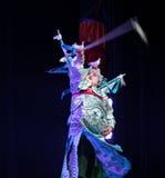 Peking-Oper Schauspieler-akrobatische showBaixi Traum-Nacht Stockfoto