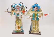Peking opera characters Stock Images