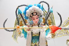 Peking opera characters Stock Photos