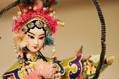 Peking Opera doll. A Peking Opera doll indoor Stock Photos