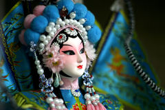 Peking opera doll close up Stock Image