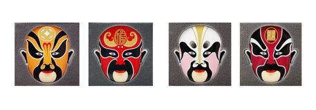 Peking opera mask. Beautiful Chinese opera mask on white Stock Images