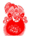 Peking Opera papercut Royalty Free Stock Image