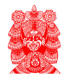 Peking Opera papercut Royalty Free Stock Photo