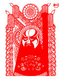 Peking Opera papercut Royalty Free Stock Images