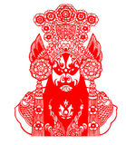 Peking Opera papercut Stock Photography