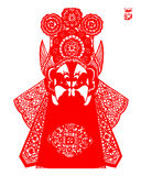 Peking Opera papercut Royalty Free Stock Photography