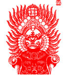 Peking Opera papercut Stock Image