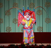 Peking Opera - The Red Haired Galloping Horse. BEIJING - FEBRUARY 19: Actor of China National Peking Opera Company performs on stage during the Peking Opera The Royalty Free Stock Photos