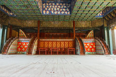Peking opera stage inside Stock Photography