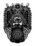 Peking-Operen-Abbildung Papier-schnitt Lizenzfreie Stockbilder