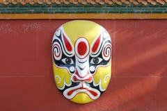 Peking-Opernmaske, luftgetrockneter Ziegelstein rgb lizenzfreie stockfotografie