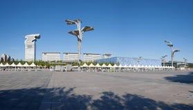 Peking Pangu Palza und Wasser-Würfel Stockbilder