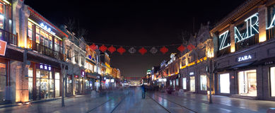 Peking qianmen dashanlan Nachtszene Lizenzfreie Stockfotografie