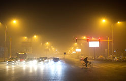 Peking-Regierung startete orange Alarm Stockfoto