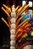 Peking-Straßen-Imbisse - Zuckerüberzogene Früchte stockfotos