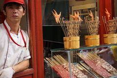 Peking-Straßenmarkt- Stockbilder