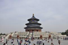 Peking 7th kan: Hall av bönen för bra skördar som bygger från templet av himmel i Peking royaltyfria foton