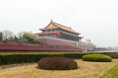 Peking-Tiananmen-Platz in China Stockbilder