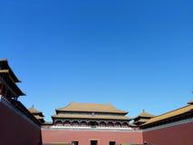 Peking Verboden Stad Hoogste Poort Royalty-vrije Stock Fotografie