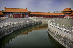 Peking verbotene Stadt: Kanal durch den Komplex. Stockfoto