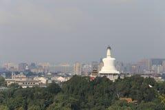 Pekingluftförorening Arkivfoto
