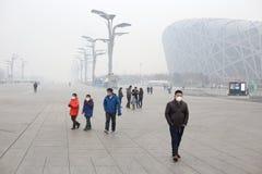 Pekingluftförorening royaltyfria bilder