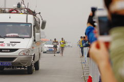 Pekingmaraton 2014 Royaltyfria Foton