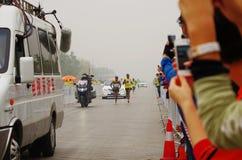 Pekingmaraton 2014 Royaltyfri Fotografi
