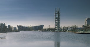 Pekingmedborgare Olympic Stadium Arkivfoto
