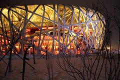 PekingOlymic stadion Arkivbilder