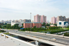 Pekings städtischer Verkehr stockfoto