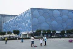 Pekingsommaren 2008 Olympic Stadium, mitten för nationell simning, Royaltyfri Fotografi