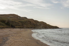 Pekla海角, Temryuk区,克拉斯诺达尔地区 免版税库存照片