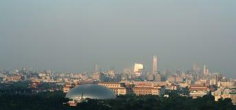 Pekín en aire contaminado Imágenes de archivo libres de regalías