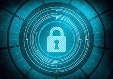 Pekskärmmanöverenhet med säkerhet och patentlåset Arkivbilder