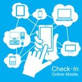 pekskärmSmart telefon, kommunikationsteknologi Royaltyfri Foto