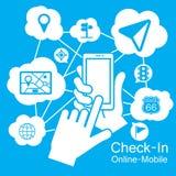 pekskärmSmart telefon, navigatör vektor illustrationer