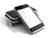 Pekskärmsmartphones royaltyfri illustrationer
