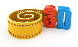 película 3d Imagen de archivo libre de regalías