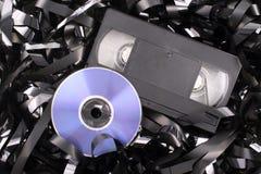 Película azul del DVD Foto de archivo libre de regalías