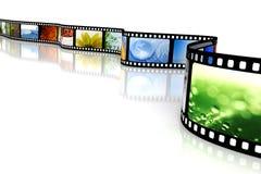 Película com imagens Fotografia de Stock Royalty Free