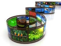 Película da foto com reflexão imagem de stock royalty free
