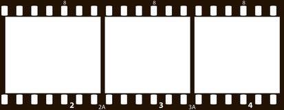película de 35m m Foto de archivo libre de regalías