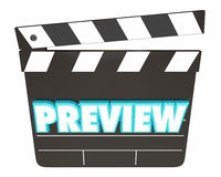 Película de cine del avance que viene pronto tablero de chapaleta Imágenes de archivo libres de regalías