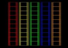 Película de cor ilustração stock