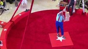 Película de la demostración del circo en el anillo rojo TX